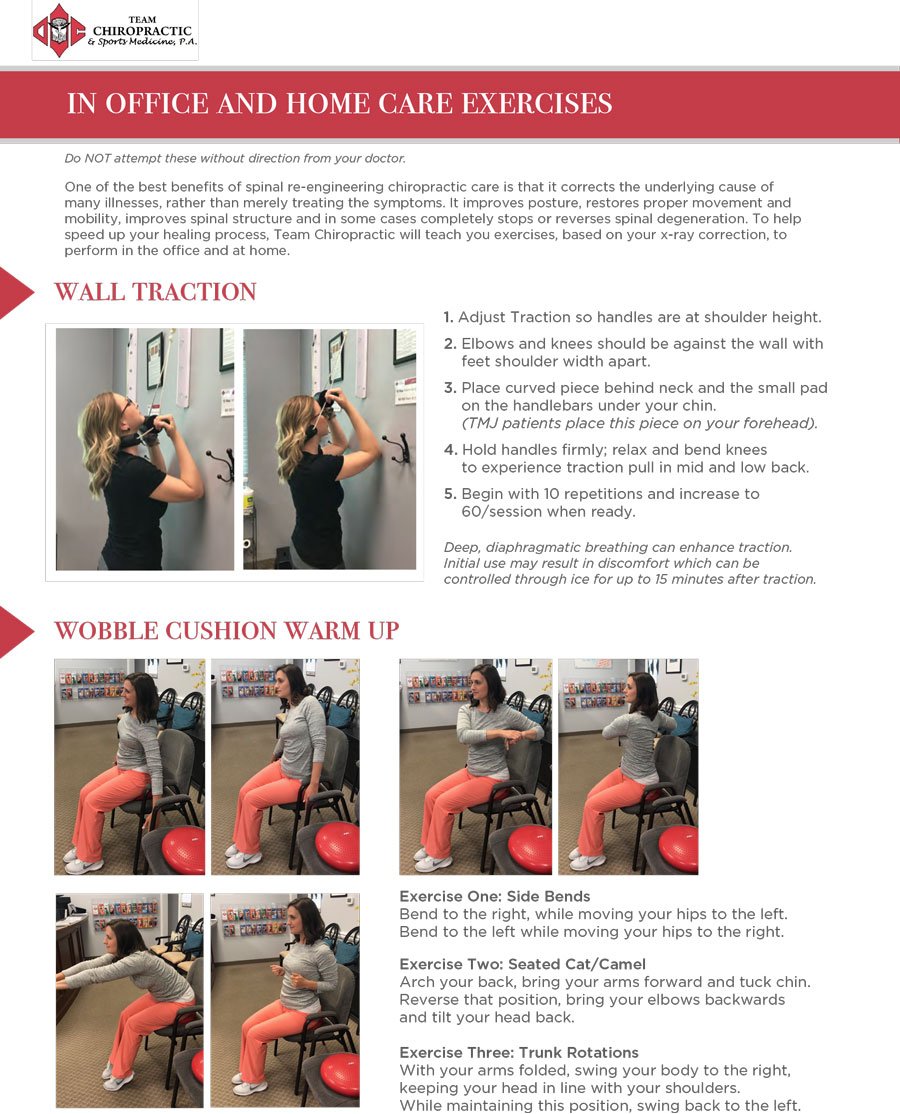 home care chiropractic exercises