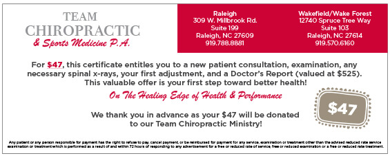Team Chiropractic Coupon